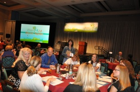 Dr. Helen Hadani listens in on a table discussion during Children's Summit 2.0.